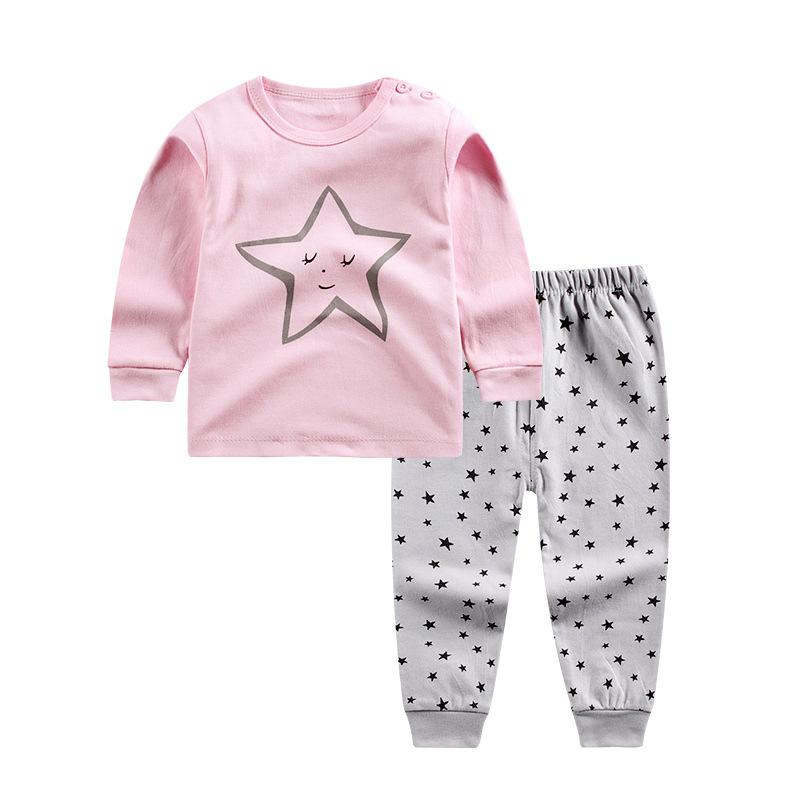 b2a6ccc60 0 4 Years Kids Long Johns Children Home Suits Basic Underwears Girls ...