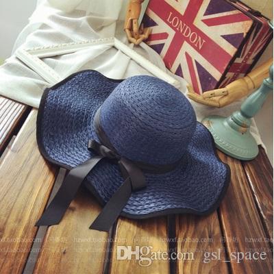 2018 Ayarlanabilir yüksek kalite kadınlar şapka güneş kremi Out kapı versiyonu katlanabilir büyük saçakları güneş plaj şapka plaj güneş şapka