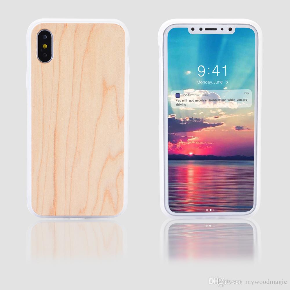 Universal for iPhone x, slim blank cherry bamboo wood case cover, mobile cell phone plain covers for iPhone 10 x, premium quality hot