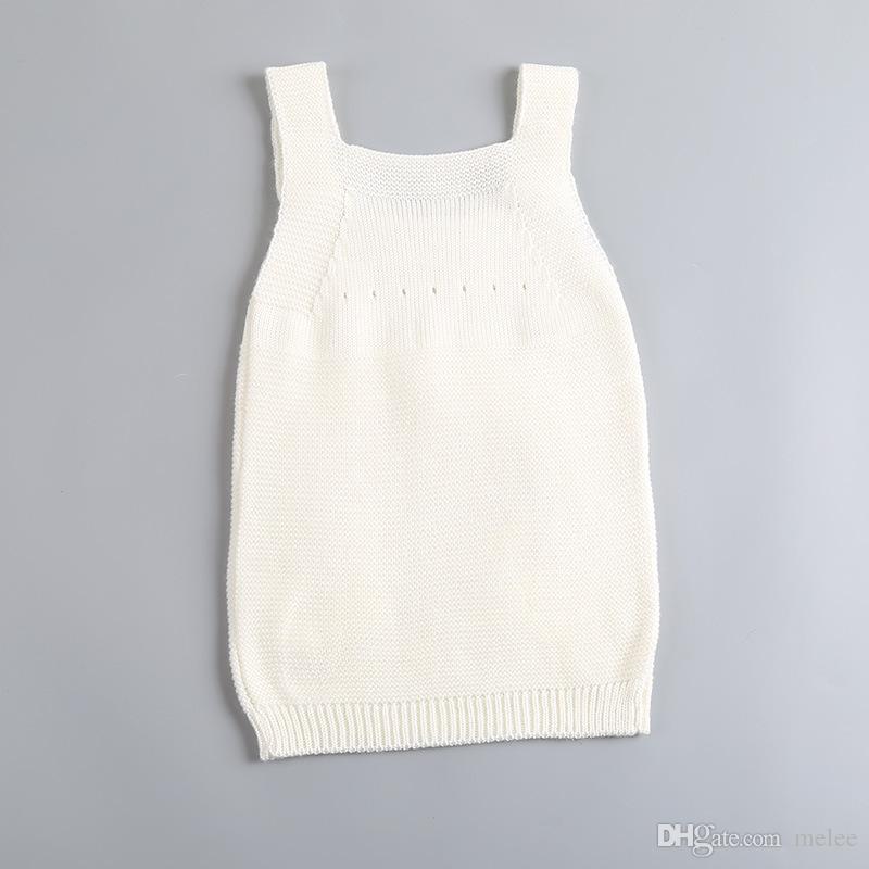 INS Crianças Meninas Rainbow Vestidos de algodão Do Bebê Meninas Camisola de Malha Suspender Saia Primavera Outono Roupas Infantis 1-4Years navio livre