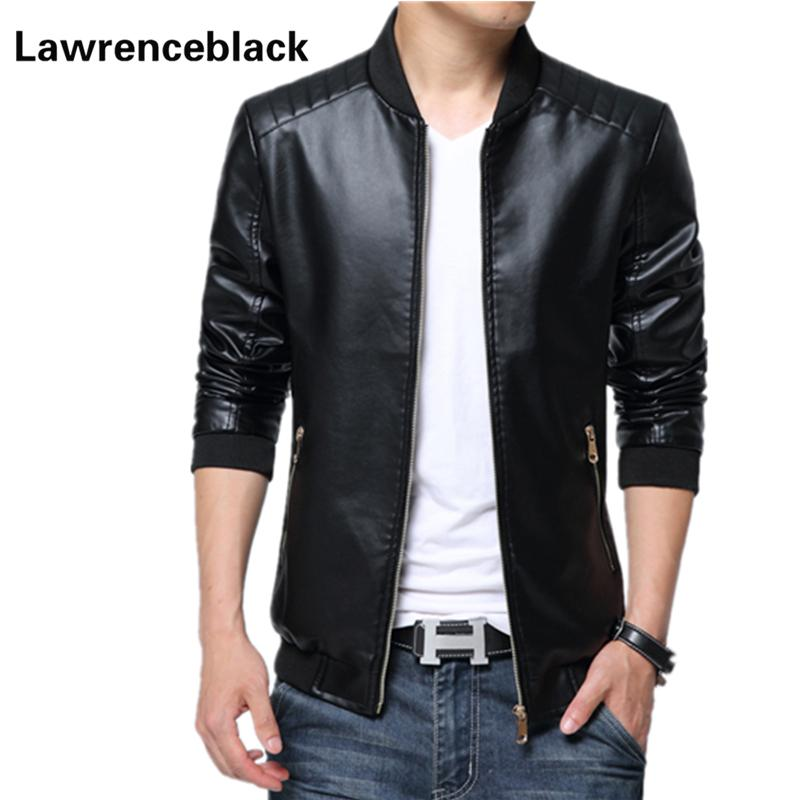 2ace7bcc29 2019 Wholesale Motorcycle Leather Jacket Men Jaqueta De Couro Solid Slim  Fit Mens Leather Jackets And Coats Jaqueta Motoqueiro 20 From Longmian