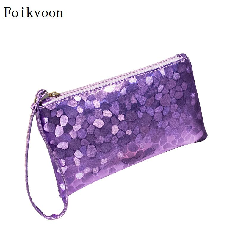 Foikvoon Woman Handbags Bags PU Leather Fashion Female Small Bags Sequins Individuality Ladies Handbags