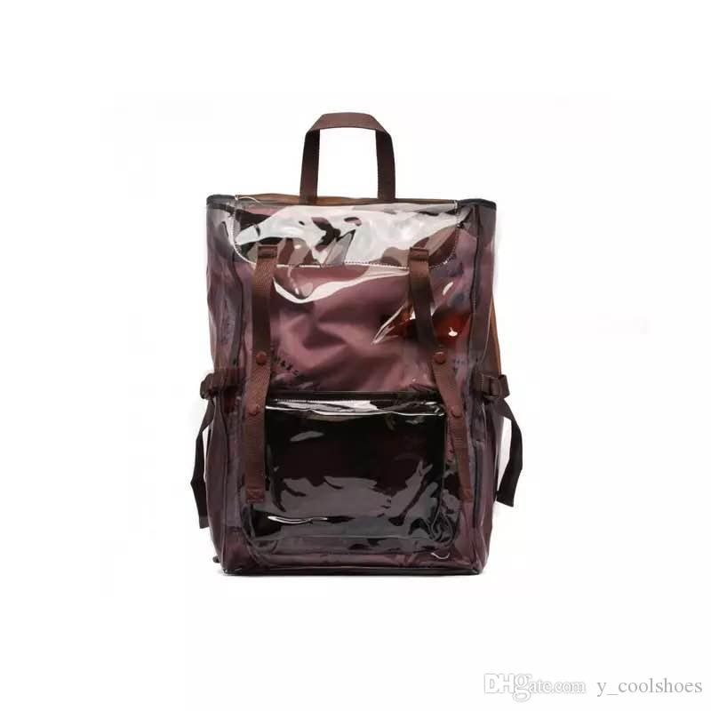 1f11063f9 18ss RAF SIMONS PVC Backpack Fashion Waterproof Backpacks Unisex Street  Travel Backpack HFLSBB083 Rucksack Purses From Y_coolshoes, $76.28|  DHgate.Com