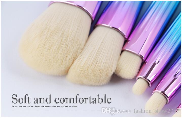 Moda Profesional Pinceles de Maquillaje Set Shell Forma Mermaid Blending Powder Eyeshadow Contorno Corrector Blush Cosméticos herramientas de maquillaje