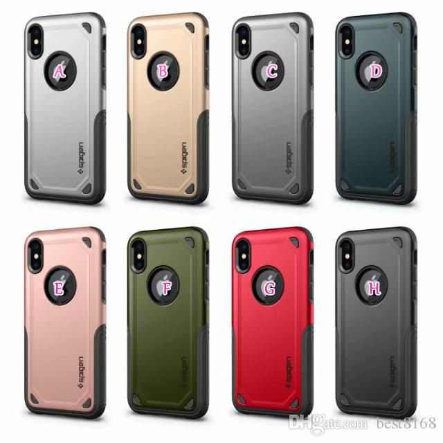 SGP Spigen Hybrid Armor PC+TPU Case For Iphone XR XS MAX X 10 8 7 Plus 6 SE 5 5S Galaxy S10 Lite Note 9 8 S9 Luxury Rugged Dual Phone Cover