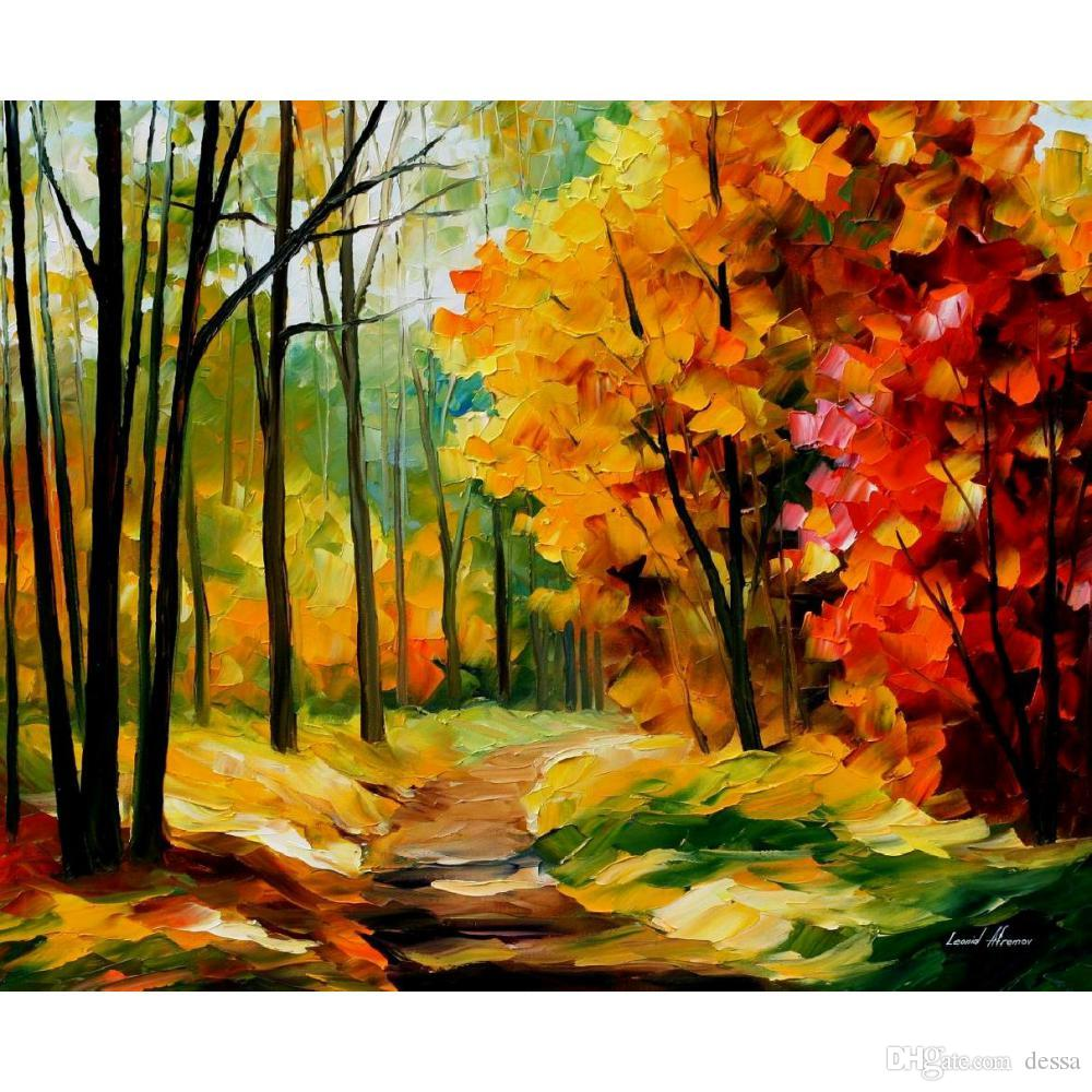 2019 hand painted leonid afremov famous oil paintings the path to