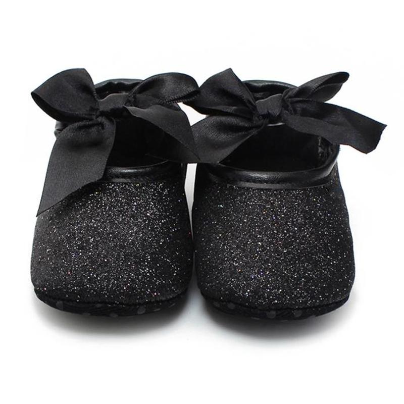 2019 Baby Cute Bowknot Shoes First Walker Toddler Kids Girls Cotton Sequin  Infant Soft Sole Shoes Bottom 17Dec27 From Henryk ac441300a5c7
