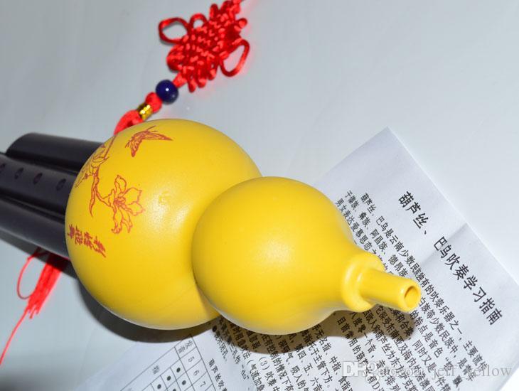 Hulusi di plastica libero di trasporto Adatto a fotographia di ballo Puntelli Giocattolo del principiante Bambini trasmettono la lista di diteggiatura e il festival della Cina
