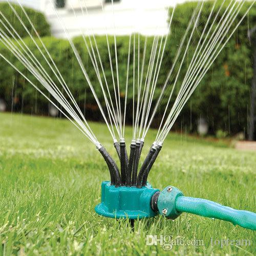 Atacado de 360 graus jardim sprinkler automático Ferramenta de jardinagem bocal de aspersão irrigação por aspersão livre DHL NEW HOT SALE
