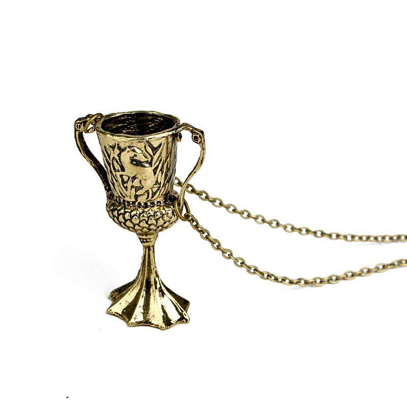 Yeni Varış Hufflepuff Kupası Kolye Vintage Antik Bronz Horcrux Dönüşüm Helga Erkekler Ve Kadınlar Için Kolye Kolye