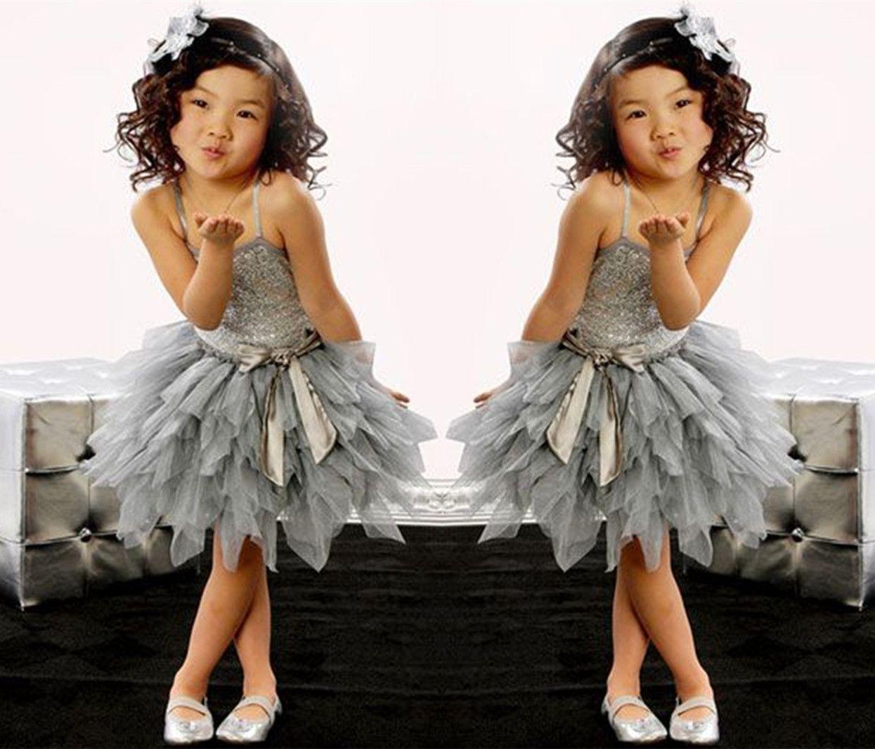 2018 New High Grade Silver Sequined Children\'S Dance Wear / Children ...