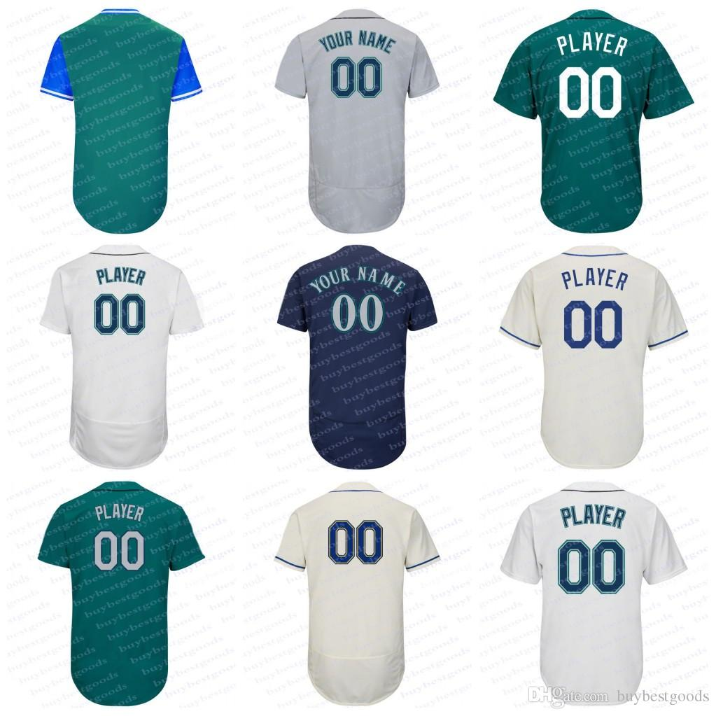 Customized Seattle Jersey Custom Blank Jersey Any Name Any Number ... 5b2eef562