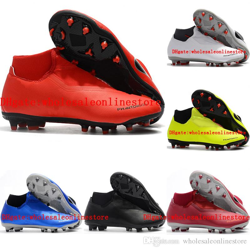 7144dbe25057 2018 Soccer Cleats Phantom Vision Elite DF Soccer Shoes Phantom Vision Academy  MG Mens Football Boots Scarpe Calcio High Quality Original Kids Rainboot  Cool ...