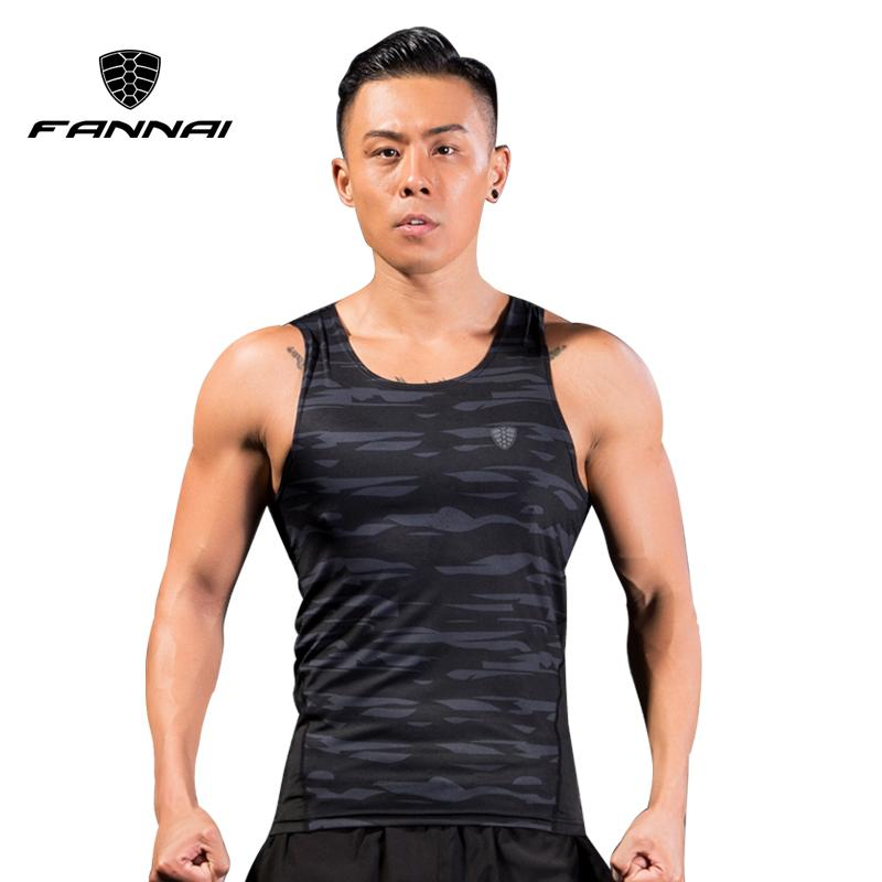 7c6f018d9f9754 2019 FANNAI Quickly Dry Men Vest Running Shirts Compression Tight Gym Tank  Top Fitness Sleeveless T Shirts Sport Best Running Vest From Duriang
