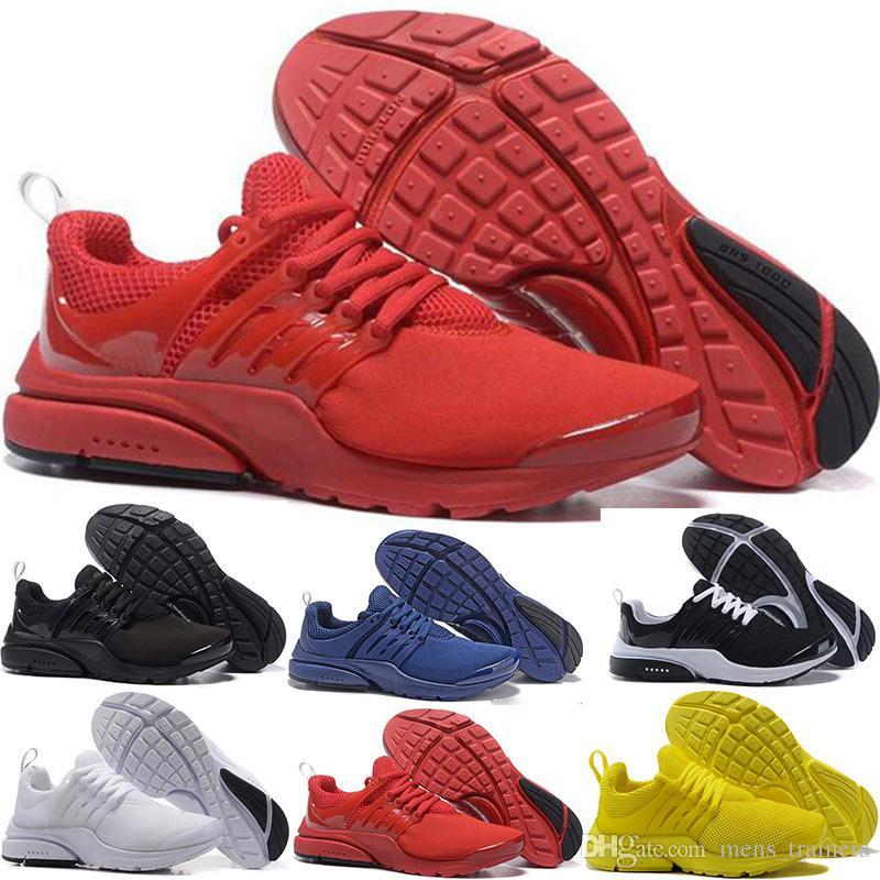 f56372e853db85 Großhandel Nike Air Presto 2018 Presto Damen Und Herren Laufschuhe Triple Weiß  Schwarz Breat Greedy Oreo Gelb Rot Blau Turnschuhe Trainer 36 45 ...