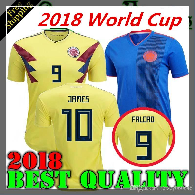 08b352aa8 2018 World Cup Colombia Home Away Soccer Jersey 18 19 Home Away ...