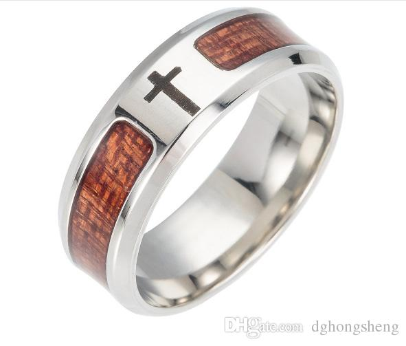 2017 New Hot Jewelry High Quality Titanium Steel Cross Logo Ring For Lady Women Man Christmas Day Holiday Promotion