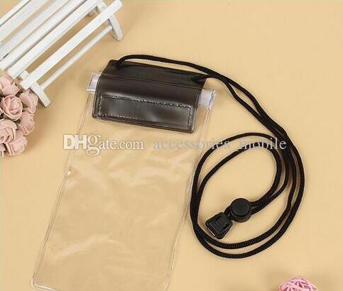 2018PVC transparent téléphone imperméable à l'eau casetouch écran téléphone portable sac étanche wimming plongée sacs de téléphone portable avec coloré styleMobile