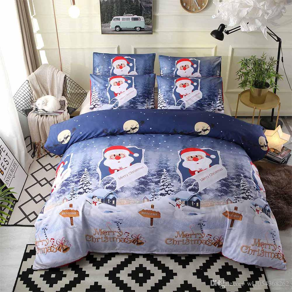 Lannidaa Santa Claus Happy Christmas Bedding Set 3D Printed ...