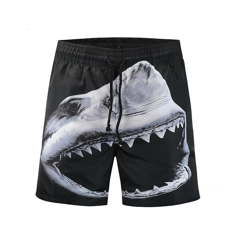 de9d46a14cf23 Men's 3D Print Beach Board shorts Tropical Design Swimming Trunks new men's  casual dry pants shark 3D printed beach pants street