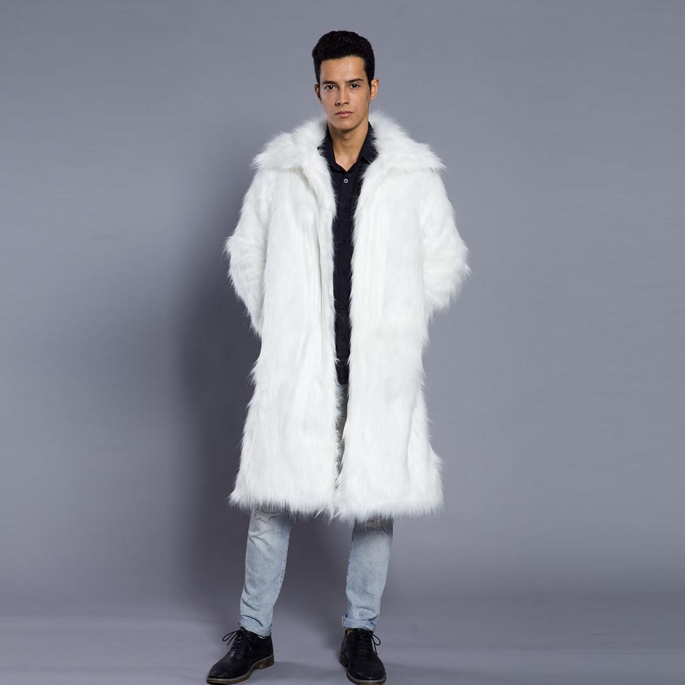 a63701120924 Mens faux fur coat new fashion mens warm thick overcoat coat jpg 1000x1000 Fur  jacket white