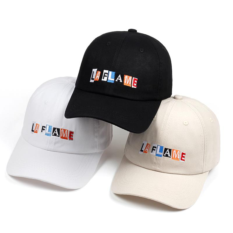 7d9610c0bd3e7a Travis Scott Cap La Flame Dad Hat 2018 New Hip Hop Rap Adjustable Baseball  Cap Men Women Cotton Snapback Golf Hats Bone Custom Fitted Hats Design Your  Own ...
