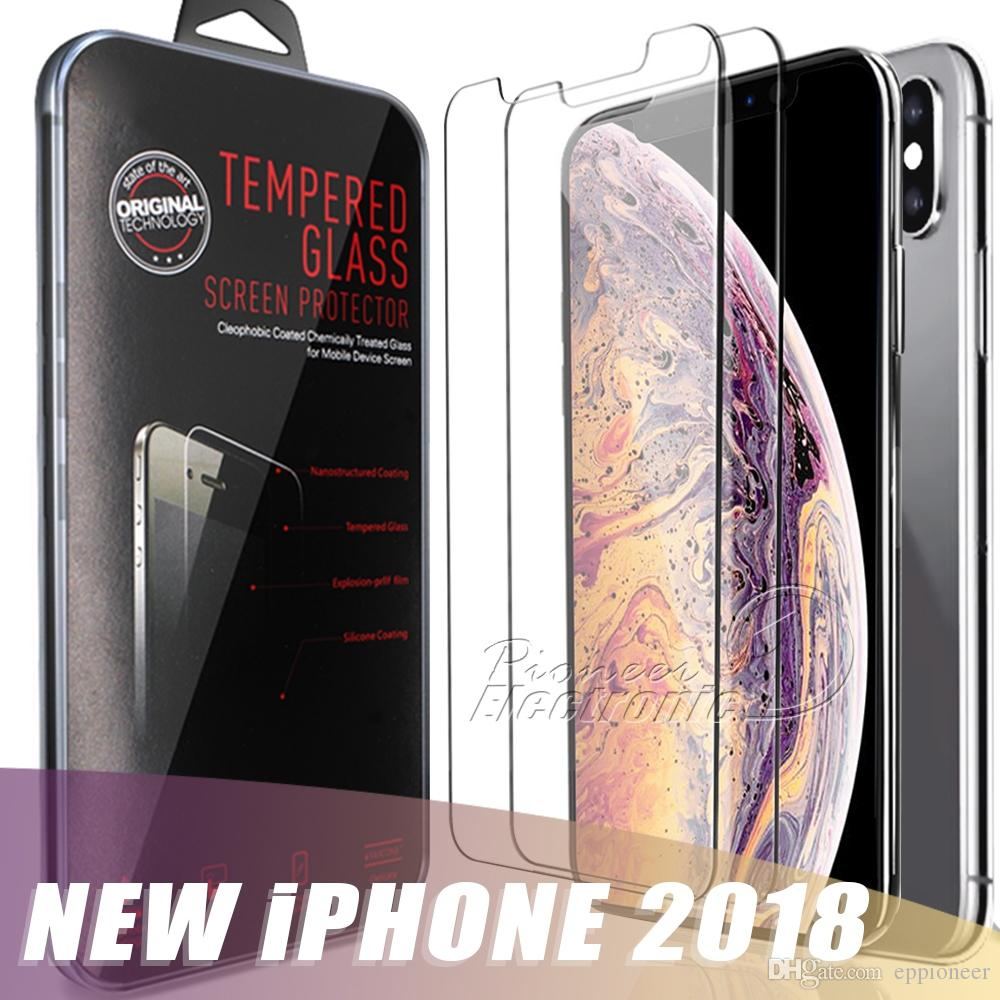 For 2018 NEW Iphone XR XS MAX X 8 7 J7 2017 Screen Protector Film Tempered Glass For Samsung S6 S7 EP Premium quality Retailbox 1 PACK