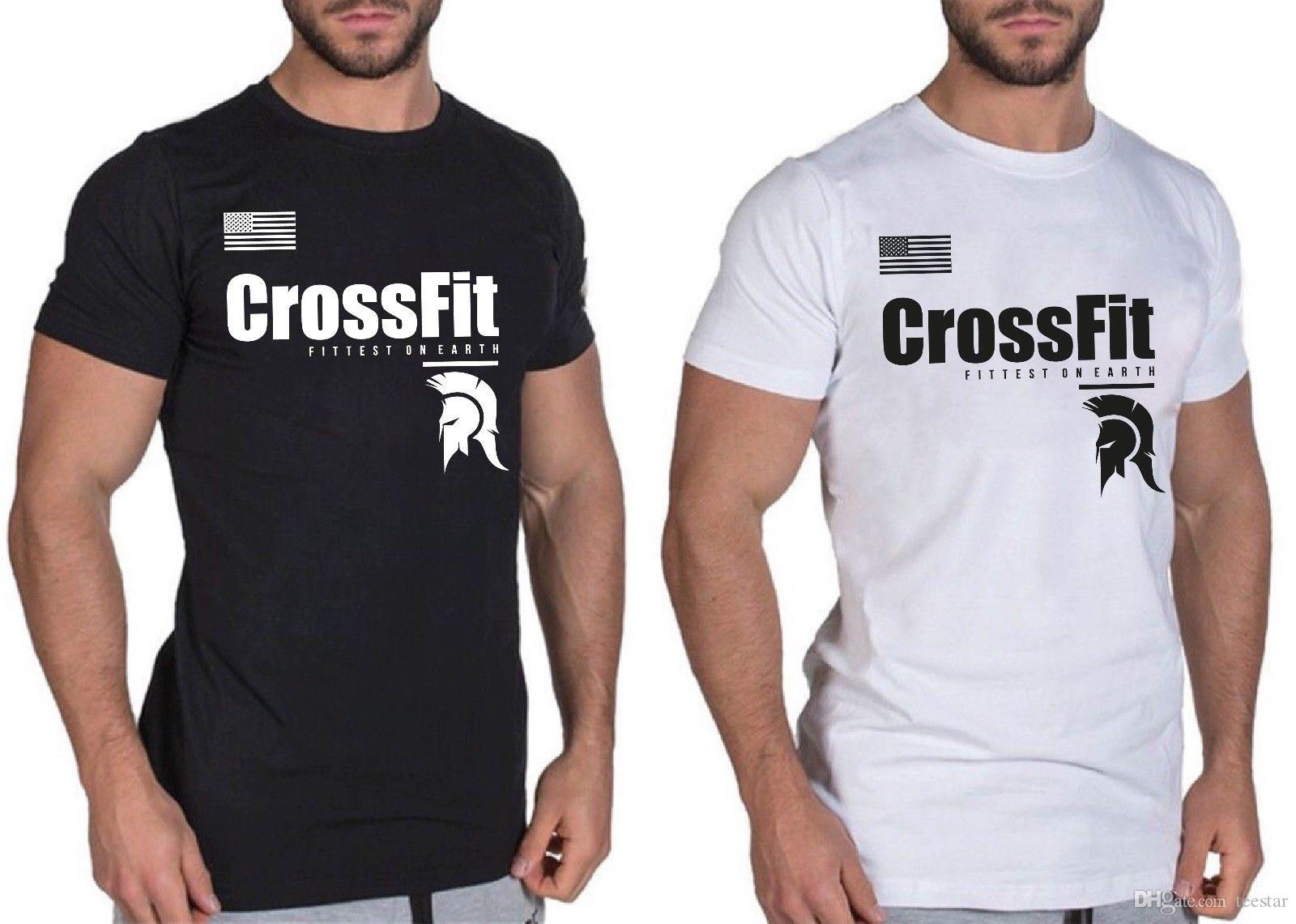 58da17ada8d Compre Para Hombre   Chico Camiseta Spartan Gym Camiseta Bodybuilding  Muscle Top Fitness Workout Camiseta MMA Equipado Hombres O Neck Tee Shirt A   10.44 Del ...