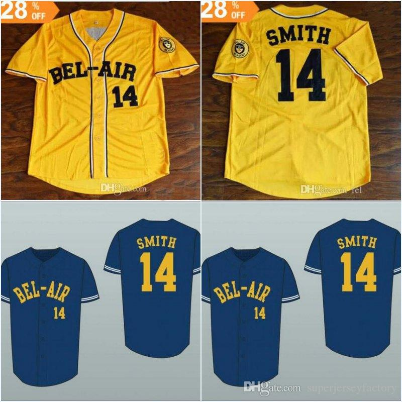 Fresh Prince 14 Will Smith Bel Air Academy Baseball Jersey Stitch Sewn  Women Youth All Stitched High Quality Jerseys UK 2019 From  Superjerseyfactory a9f473b7c433