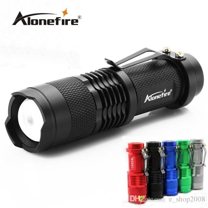 Mini LED antorcha 7W 1200LM CREE XPE Q5 LED linterna foco ajustable Zoom Flash lámpara de luz envío gratis venta al por mayor SK68