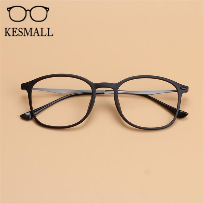 3d61a2a6bc80 2019 KESMALL Korean Style Optical Glasses Frame Men Retro Computer Eyeglasses  Frames Round Shape Women Myopia Eyeglass Frame YJ1180 From Playnice