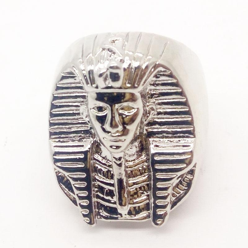 Mysterious Egyptian Pharaoh Rings for Mens Stainless Steel King Ring 2018 Male Punk Rings HiP-Hop Jewelry