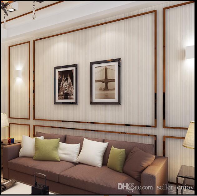 5.3sqm Classic wallpaper for furniture Simple thin stripe wallpaper living room background wall decor non-woven wallpaper