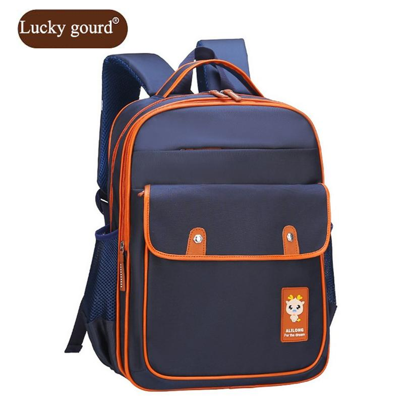 b5ad8a5ee46e LUCKY GOURD Fashion Casual Children S Backpack Boy Schoolbag 1 3 6 Grade Waterproof  Nylon Backpacks School Backpacks Z931 Osprey Rucksack Backpack From ...