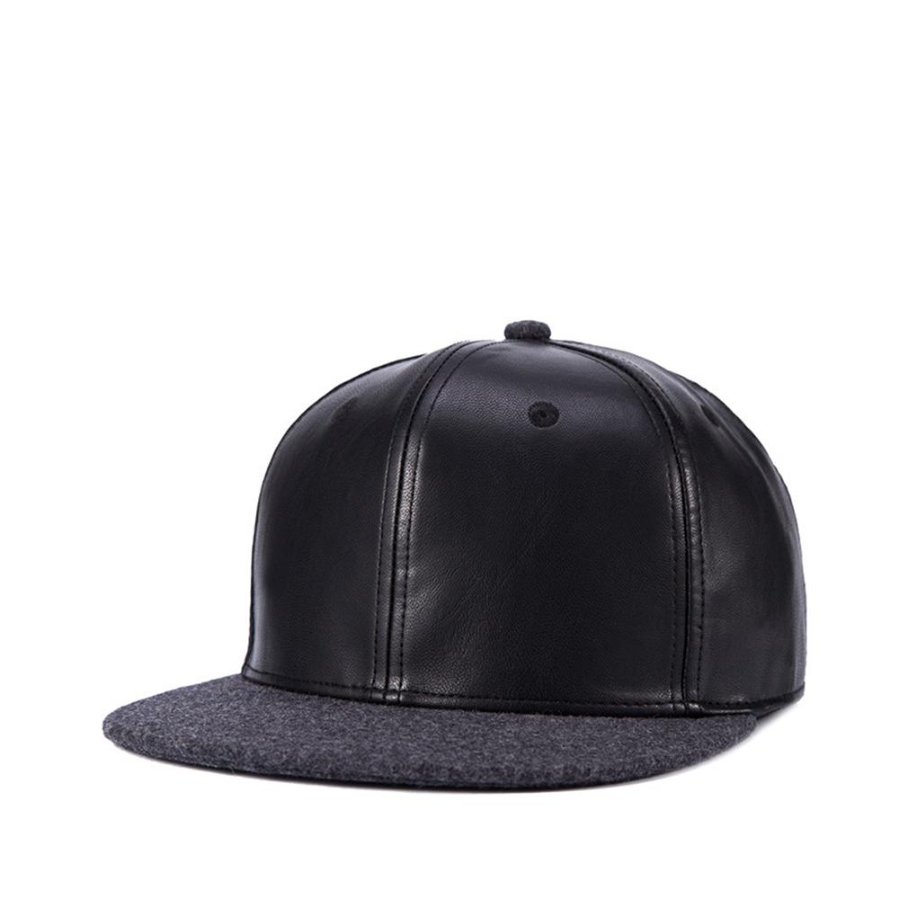 2018 Fashion Brand Baseball Cap Leather Snapback Hip Hop Caps Black Solid  Hip Hop Gorro Chapeau Snap Back Hats For Men Dad Hat Basecaps Hats For Sale  From ... 77935e7d5dd