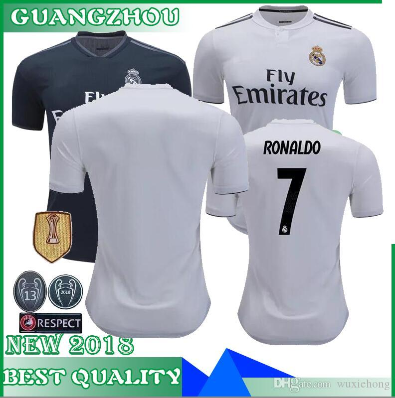2019 2018 Madrid Jersey Benzema Ronaldo ASENSIO Football Soccer Modric  Kroos Sergio Ramos Bale Marcelo 18 19 Champions League Real Madrid Shirts  From ... 71099ba531cfe
