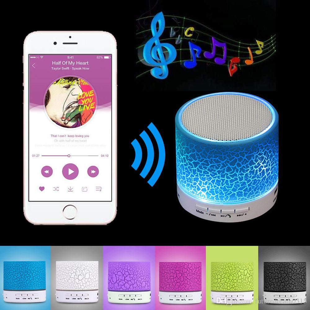A9 Mini Wireless Bluetooth Speaker Portable Subwoofer Stereo Music Player With Tf Usb Led Light Crack Loudspeakers