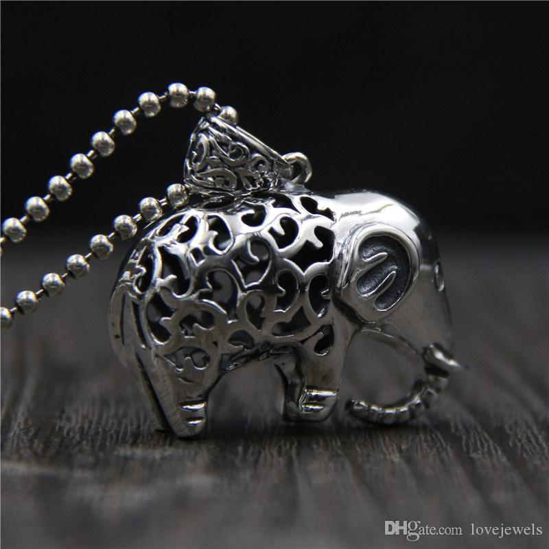 Wholesale hip hop jewelry 925 sterling silver elephant pendant wholesale hip hop jewelry 925 sterling silver elephant pendant vintage marcasite ladies hollow elephant sweater chain necklace pendant china goods stone aloadofball Image collections