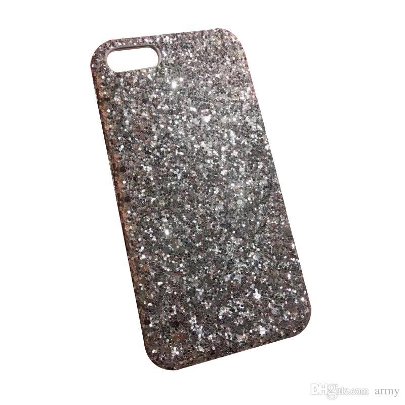 Cassa del telefono di Bling dell'oro Polvere Bling Siliver la copertura del gel del cellulare di lusso all'ingrosso della scintilla di cristallo del mobile
