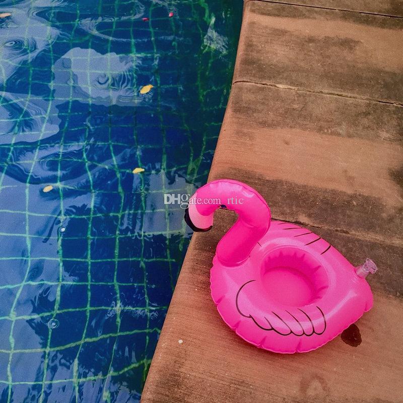 PVC Şişme İçecek Kupası Tutucu Donut Flamingo Karpuz Ananas Limon Hindistan Cevizi Ağacı Şekilli Yüzen Mat Çocuklar Hediye