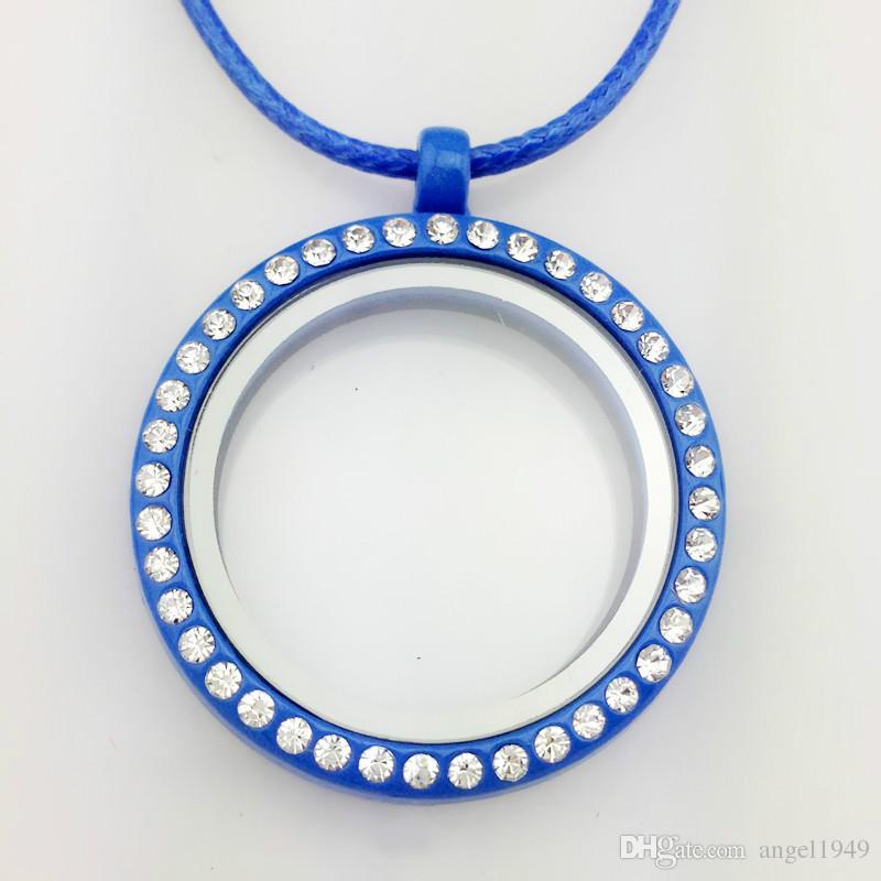 Ciondolo galleggiante medaglione collana 30 millimetri rotondo vetro magnetico galleggiante fascino ciondoli medaglione 28 pollici catena medaglioni gioielli