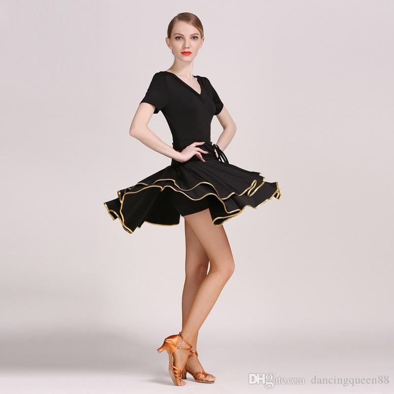 bff7eeb29 Compre 2018 Vestido Latino Trajes De Baile Latino Para Mujeres Vestido De Salsa  Ropa De Baile Latina Para La Competencia De Baile Baile Latino Vestido De  ...