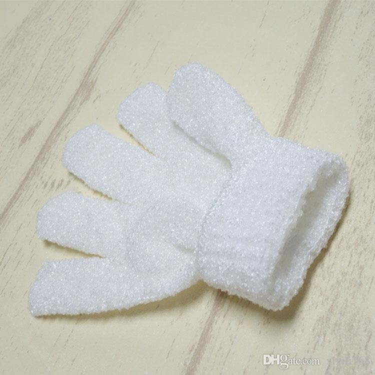 Exfoliating Bath Glove Five fingers Bath bathroom accessories nylon bath gloves Bathing supplies products