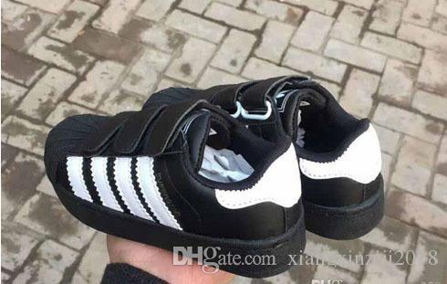 Nuovo marchio Shell Head boy ragazze Sneakers Superstar bambini Scarpe bambini nuovi stan scarpe moda smith sneakers in pelle scarpe casual