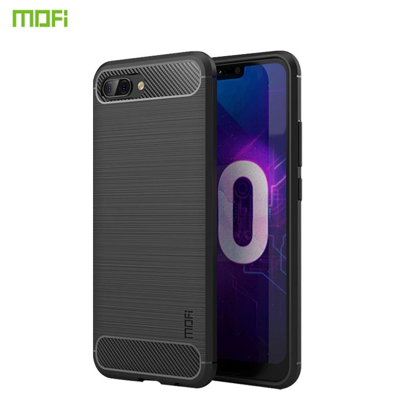 online store 7e696 b53a6 For Huawei Honor 10 uxury Shockproof TPU Case Leather MOFi Carbon Fiber  Full Fitted For Huawei Honor 10 Case Back Cover
