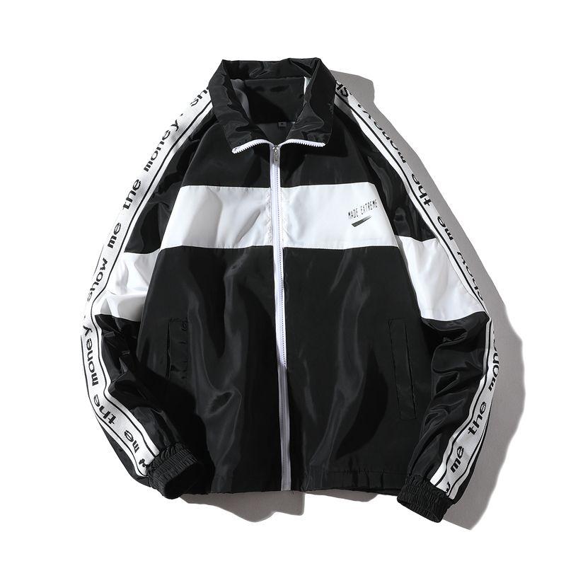 Jackets & Coats Jacket Mens New Zipper Windbreaker Jackets Overcoat Male Long Sleeve Splice Hip Hop Jackets Coats Brand Streetwear Jackets