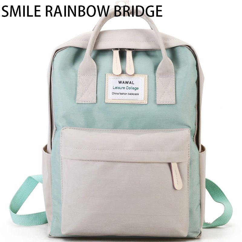 2d5cb83f9852 Brand Large Student Waterproof Laptop Backpack Women School ...