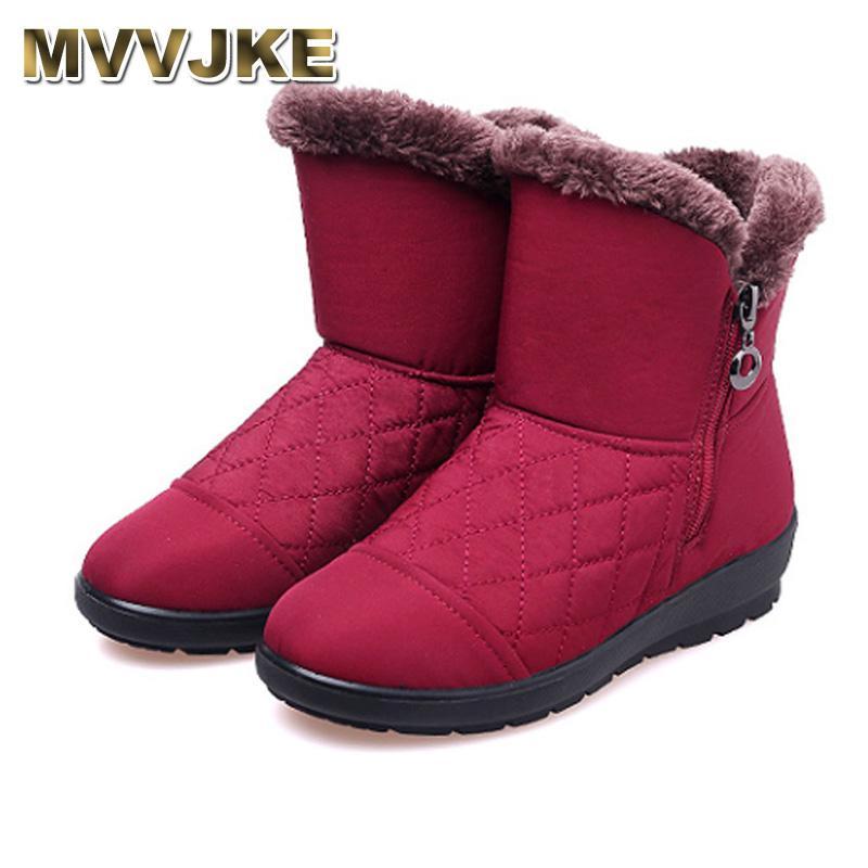 Großhandel MVVJKE Winter Schnee Stiefel Frauen Stiefel Weibliche Wasserdichte  Damen Schnee Mädchen Winter Schuhe Frau Plüsch Einlegesohle Botas Mujer Von  ... cd71603a31