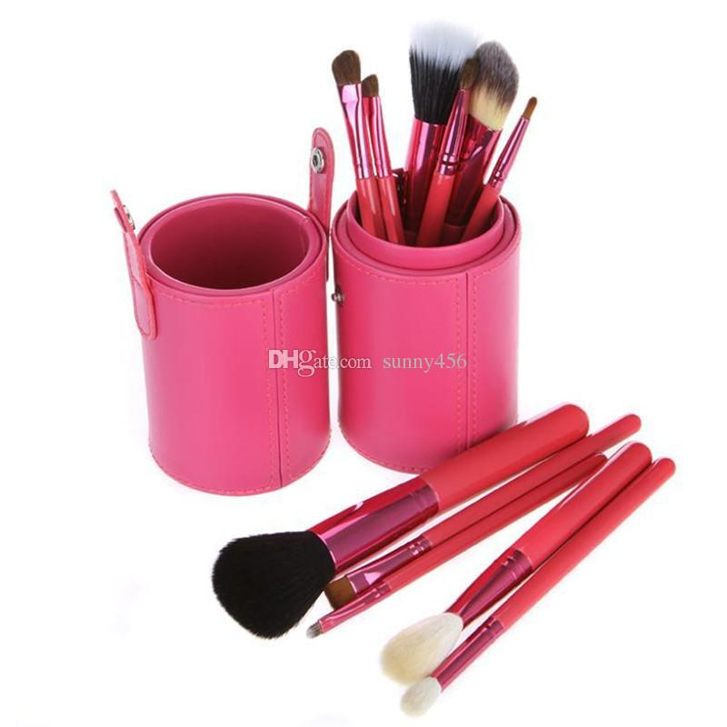 pennelli trucco + portabicchieri professionali 12 pezzi pennelli trucco set pennelli cosmetici con portabicchieri cilindri