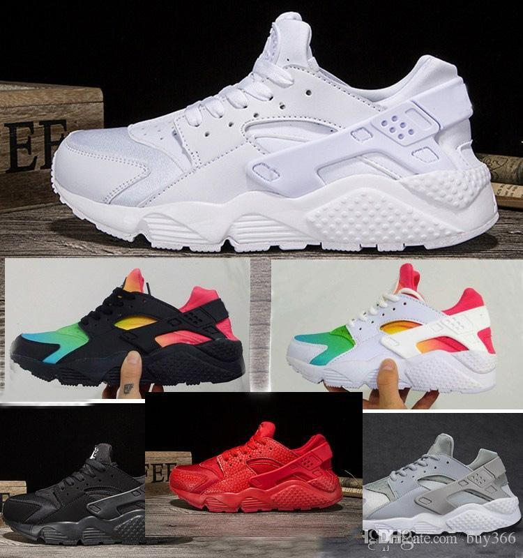 best website eb155 6b0dc Compre Nuevo Air Huarache Zapatillas Para Hombres Mujeres Zapatillas  Deportivas Huaraches Ultra Zapatos Blanco Negro Rojo Zapatillas Talla US  5.5 12 A ...